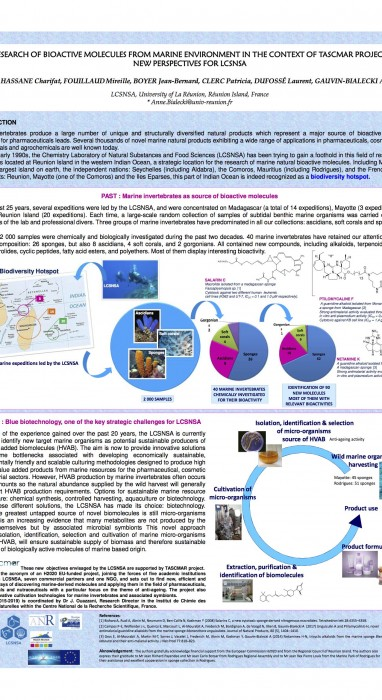 RESEARCH OF BIOACTIVE MOLECULES FROM MARINE ENVIRONMENT IN THE CONTEXT OF TASCMAR PROJECT: NEW PERSPECTIVES FOR LCSNSA