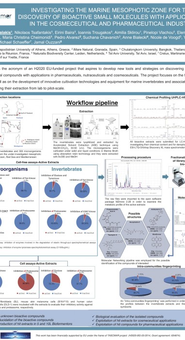 Investigating the marine mesophotic zone for the discovery of bioactive small molecules with applications in the cosmeceutical and pharmaceutical industry