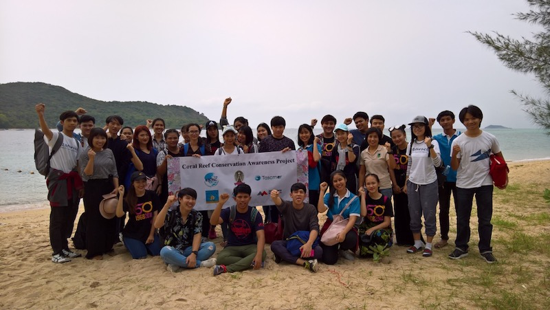 TASCMAR in Thailand raising awareness on the coral reef conservation
