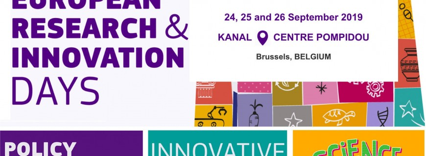 European research and Innovation days: TASCMAR will be there !!!